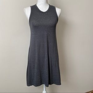 Topshop Gray TShirt Dress in Space Dye